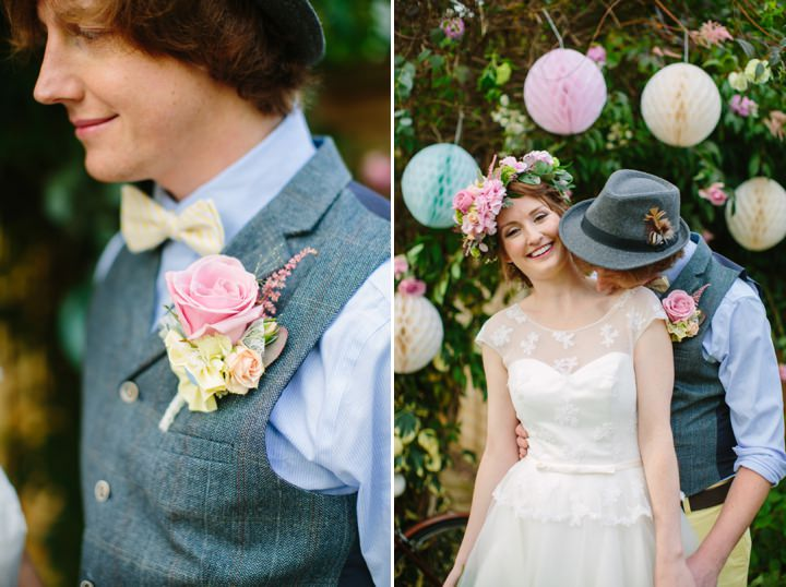 Picture Of dreamy and cute pastel glamping wedding shoot  16