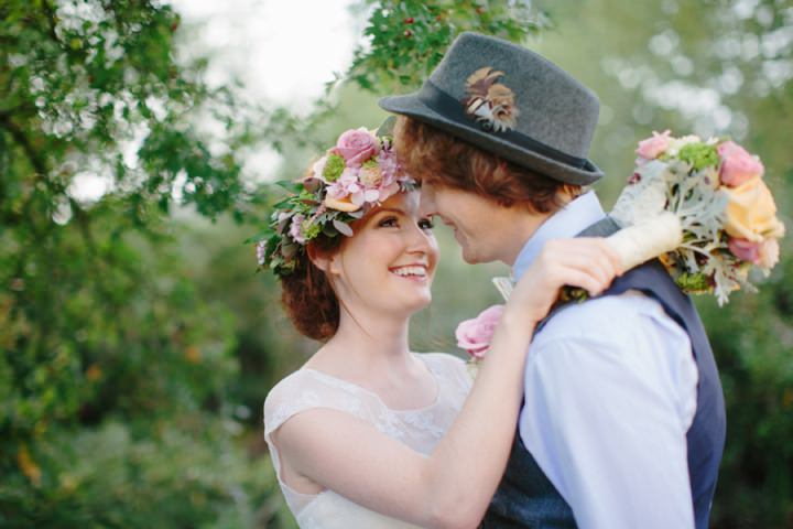 Picture Of dreamy and cute pastel glamping wedding shoot  18