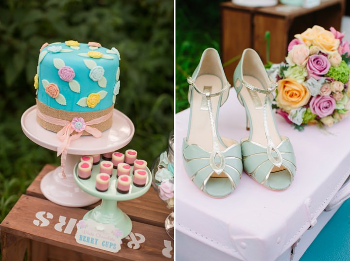 Picture Of dreamy and cute pastel glamping wedding shoot  19