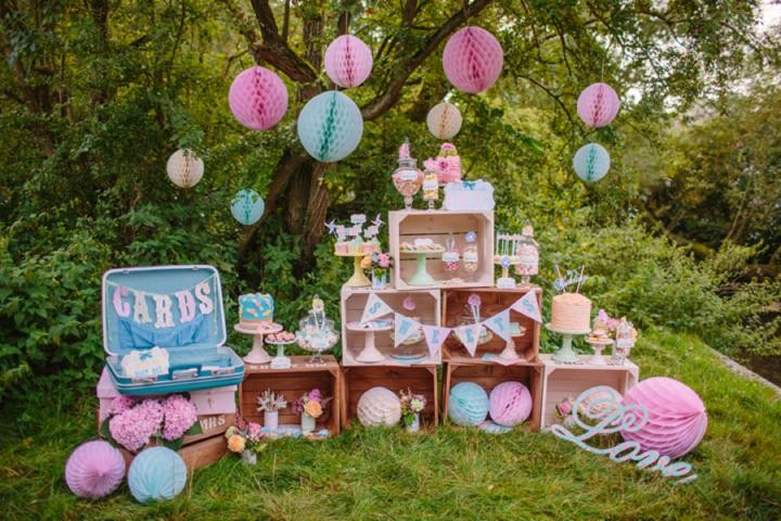 Picture Of dreamy and cute pastel glamping wedding shoot  2