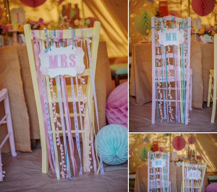 Picture Of dreamy and cute pastel glamping wedding shoot  4