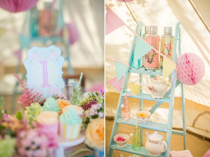 Picture Of dreamy and cute pastel glamping wedding shoot  6