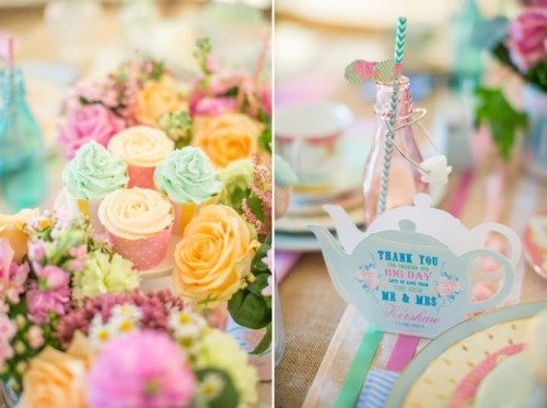 Dreamy And Cute Pastel Glamping Wedding Shoot