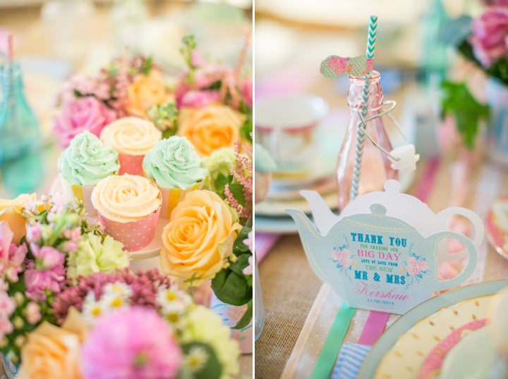 Picture Of dreamy and cute pastel glamping wedding shoot  8