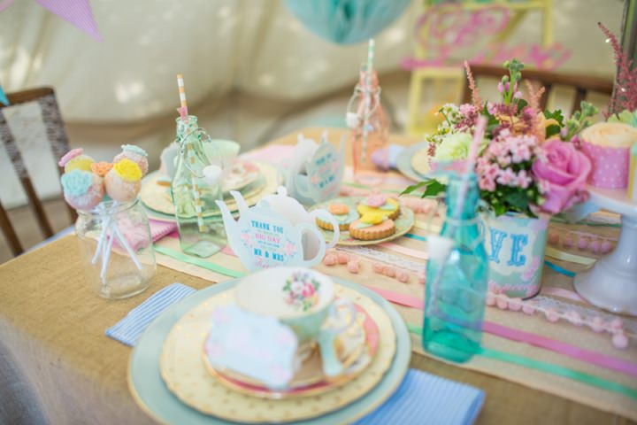 Picture Of dreamy and cute pastel glamping wedding shoot  9