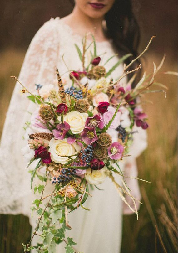 Picture Of Dreamy And Relaxed Boho Wedding Bouquets 19