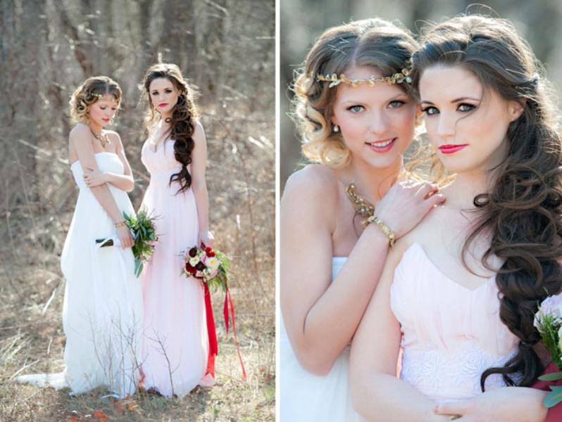 Прическа на свадьбе сестре