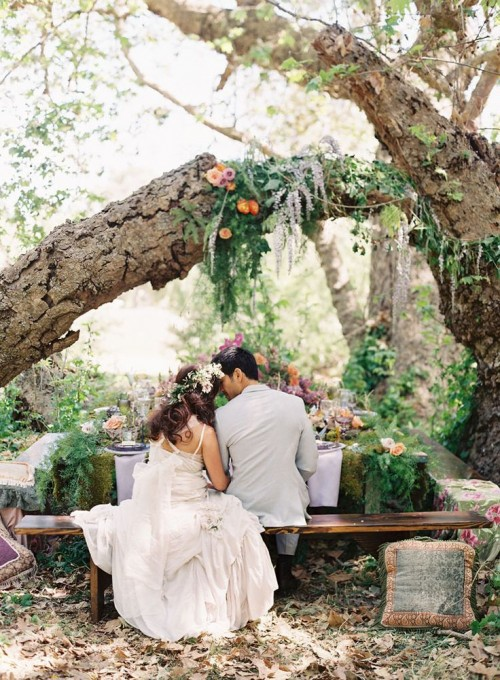 Dreamy Woodland Boho Chic Wedding Ideas