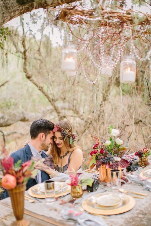 44 Dreamy Woodland Boho Chic Wedding Ideas