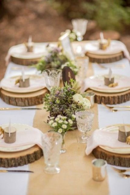 Picture Of Dreamy Woodland Wedding Table Decor Ideas 15