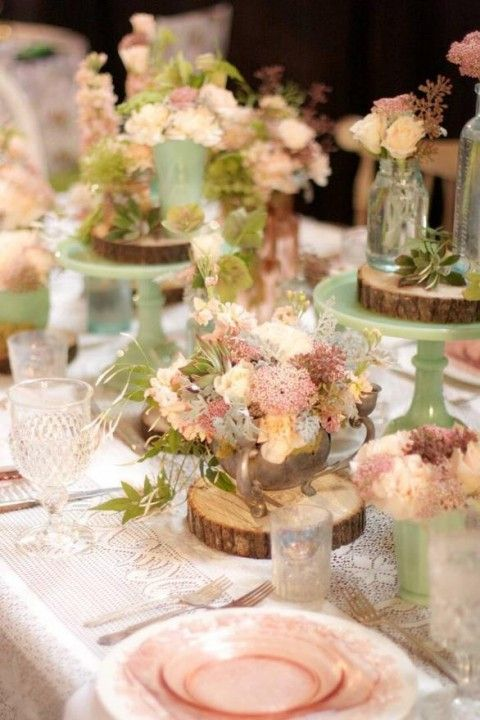 Picture Of dreamy woodland wedding table decor ideas 9