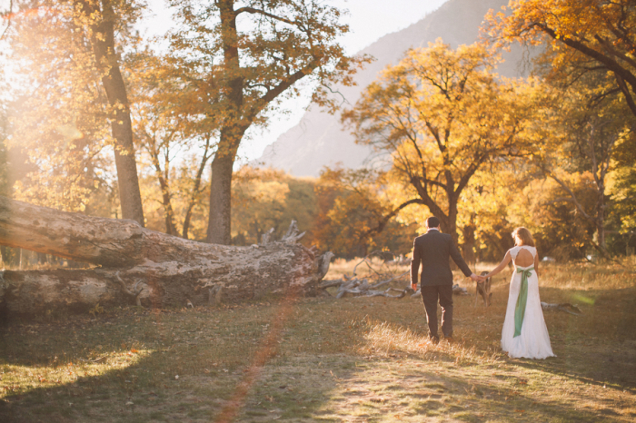 Picture Of dreamy yosemite elopement with fresh green touches  13