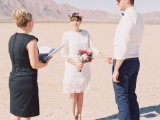 Dry Lake Bed Elopement Outside Of Las Vegas