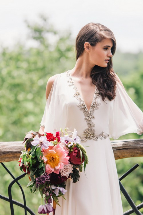 Simple earthy wedding dresses