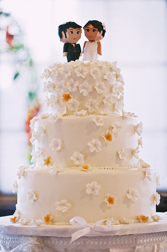 DIY Wedding Challenge 2010: Cake Topper Us! (via projectwedding)