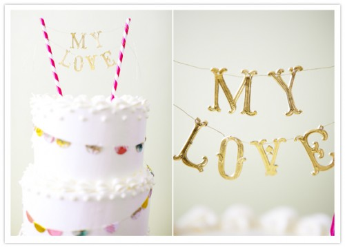 DIY Crafty Cake Toppers (via 100layercake)