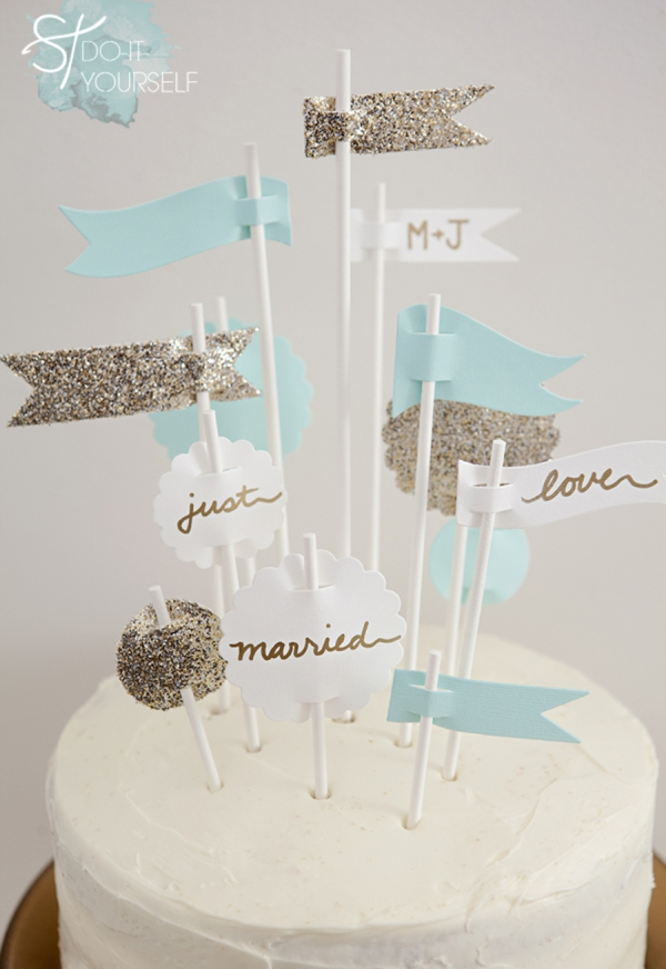 DIY Party Flags Cake Topper
