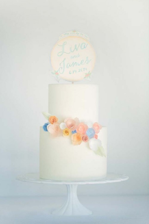 DIY Watercolor Cake Topper in 5 Easy Steps (via exquisiteweddingsmagazine)