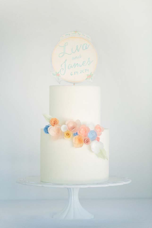 DIY Watercolor Cake Topper in 5 Easy Steps