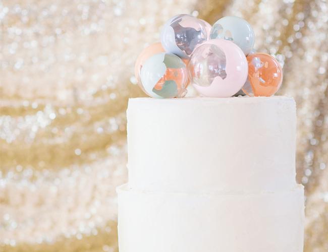DIY Pastel Ornament Cake Topper