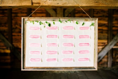 Easy And Cute Diy Watercolor Framed Escort Card Display