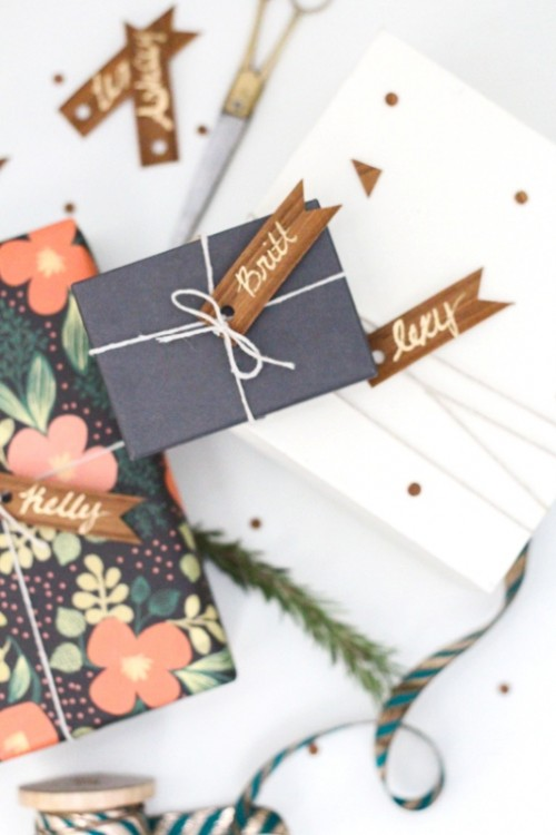 Easy And Lovely Diy Wood Veneer Favor Gift Tags