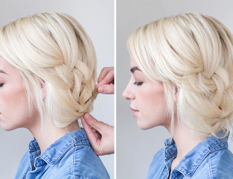 Of easy and pretty diy tucked braid hair updo for a bride or ...