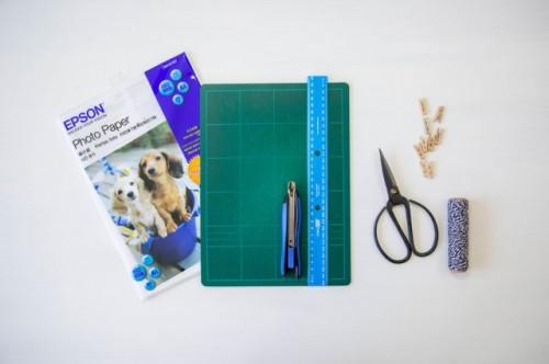 Easy DIY Polaroid Photo Banner For Wedding Decor