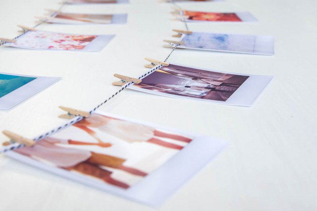 Picture Of easy diy polaroid photo banner for wedding decor  5