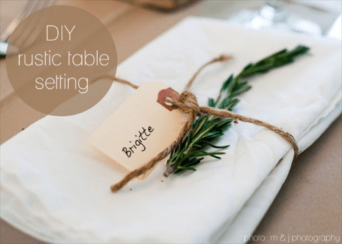 Easy Diy Rustic Place Setting With A Sprig