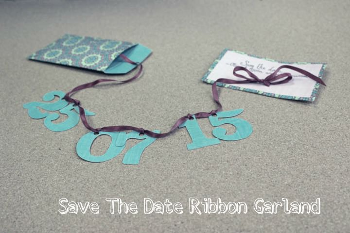 Picture Of easy diy save the date ribbon garland  1