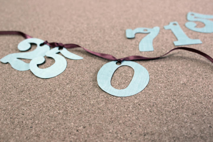 Picture Of easy diy save the date ribbon garland  4