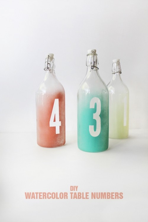 Easy DIY Watercolor Table Numbers For Your Wedding