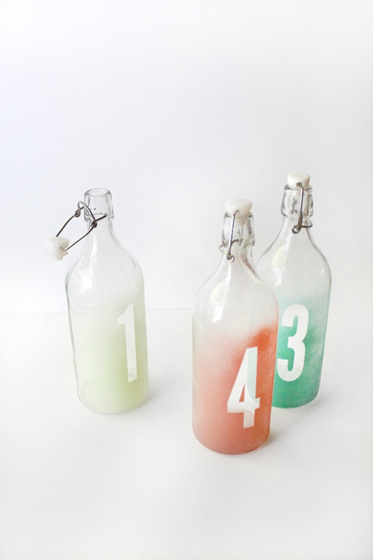 Picture Of easy diy watercolor table numbers for your wedding  3