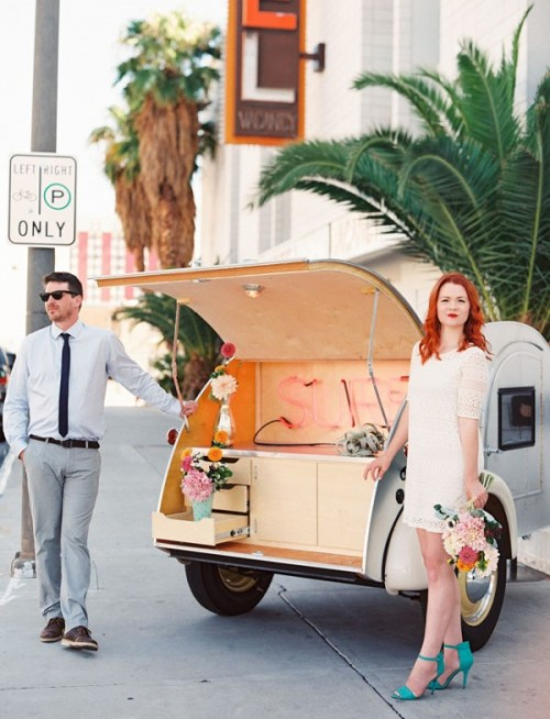 Eclectic And Fun Vegas Elopement Wedding