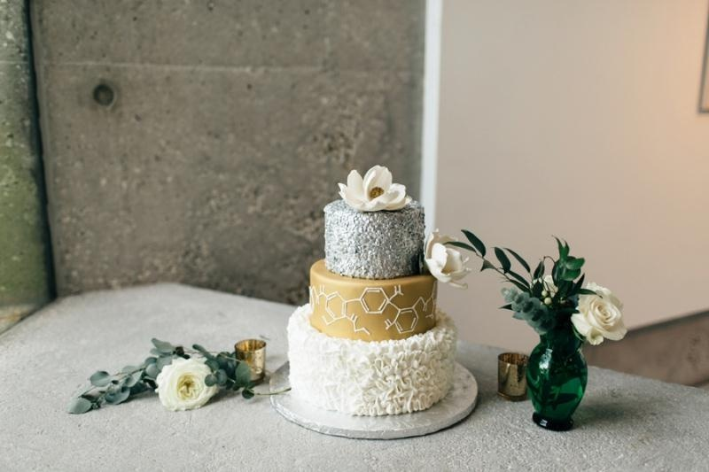Picture Of eclectic chemistry inspired wedding shoot at the atlantic art center  16