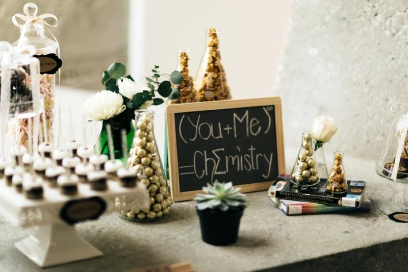 Picture Of eclectic chemistry inspired wedding shoot at the atlantic art center  17