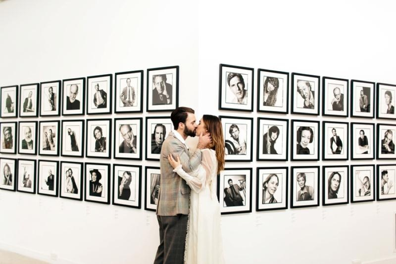 Picture Of eclectic chemistry inspired wedding shoot at the atlantic art center  20