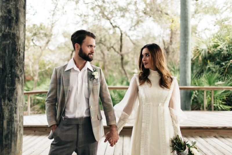 Picture Of eclectic chemistry inspired wedding shoot at the atlantic art center  21