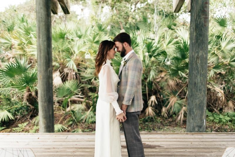 Picture Of eclectic chemistry inspired wedding shoot at the atlantic art center  5