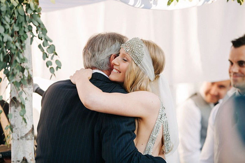 Picture Of eclectic sunset rooftop wedding in new york  11