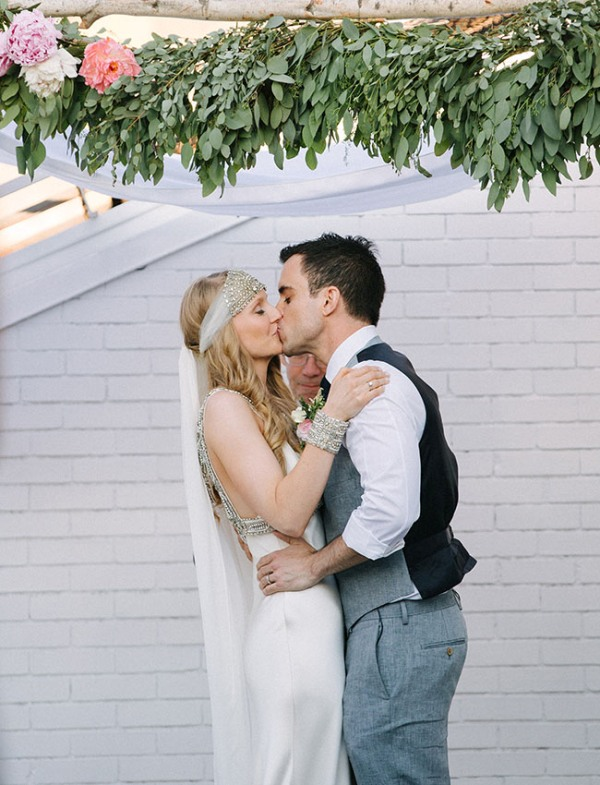 Picture Of eclectic sunset rooftop wedding in new york  17