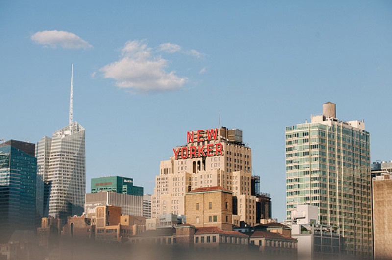 Picture Of eclectic sunset rooftop wedding in new york  2