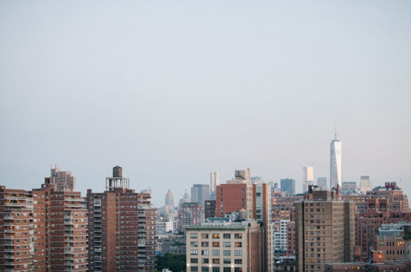 Picture Of eclectic sunset rooftop wedding in new york  22