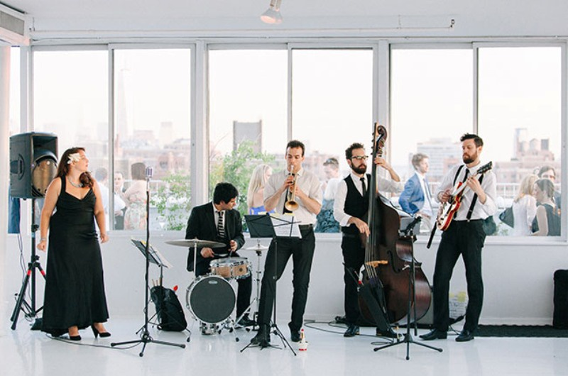 Picture Of eclectic sunset rooftop wedding in new york  23
