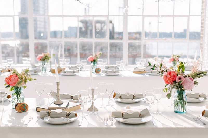 Picture Of eclectic sunset rooftop wedding in new york  26