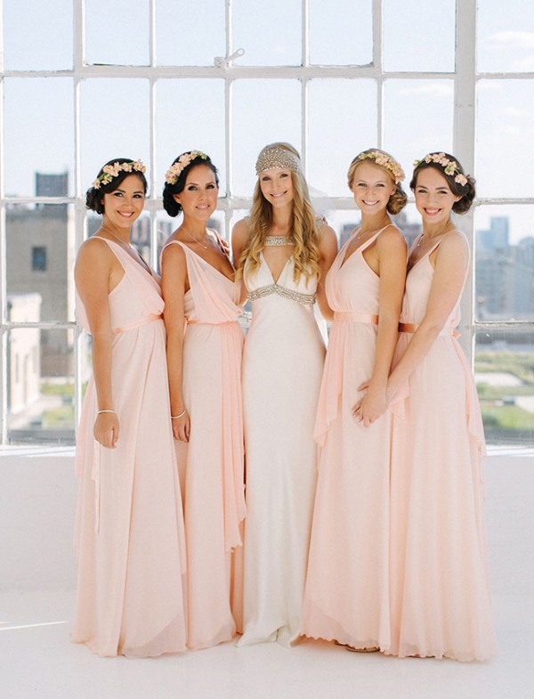 Picture Of eclectic sunset rooftop wedding in new york  6