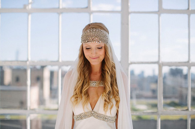 Picture Of eclectic sunset rooftop wedding in new york  7