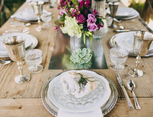 Eclectic Vintage And Rustic Garden Wedding Inspiration