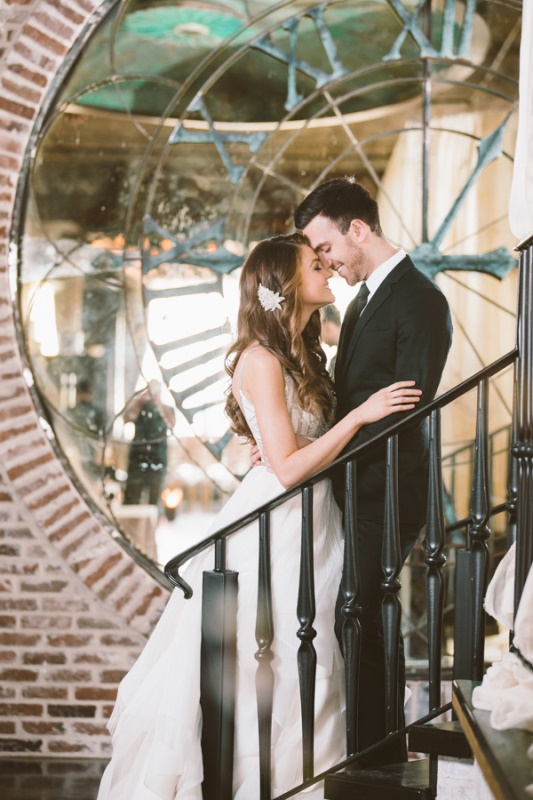 Picture Of eclectic wedding inspiration with industrial and art deco feel  1